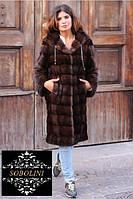 "Парка -шуба из меха канадской норки "" Carolyn"", длина 110 см, фото 1"
