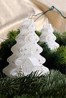 Свеча Новогодняя елка с подсветкой 90х50х125мм. 1 шт.