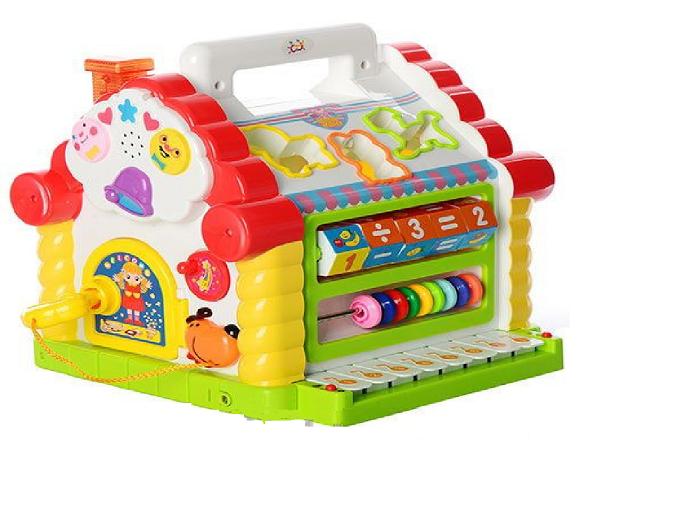 """Детская многофункциональная развивающая игрушка-сортер — """"Теремок"""""""