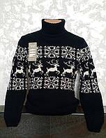 Подростковый свитер с оленями для мальчика