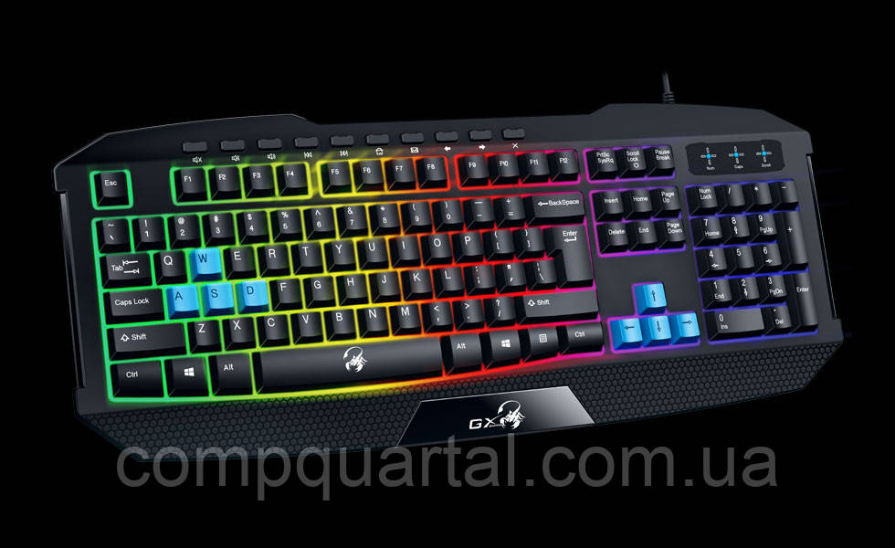Клавіатура Genius Scorpion K215 Black (31310474105) USB UKR
