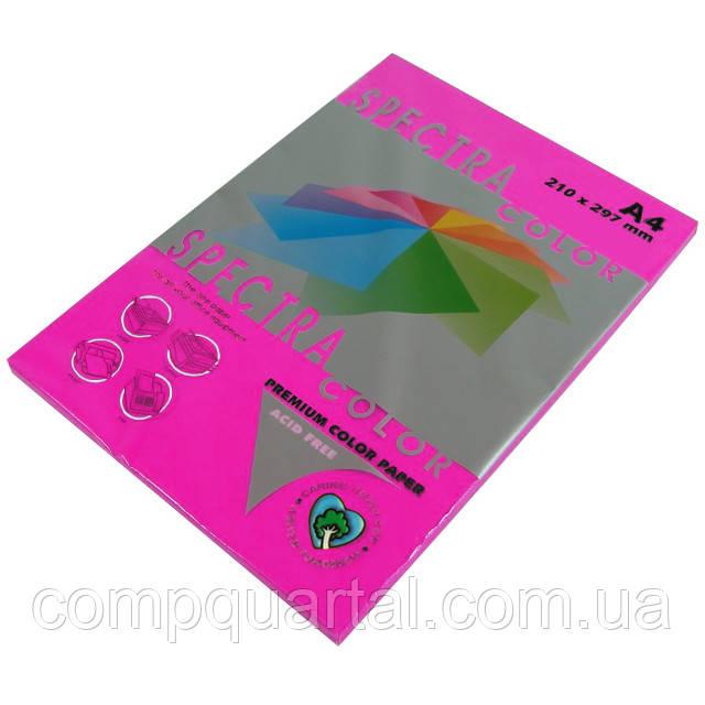 Папір кольоровий 80г/м, А4 100арк. SPECTRA COLOR (40350) IT 350 Red (Малиновий/Неоновий)