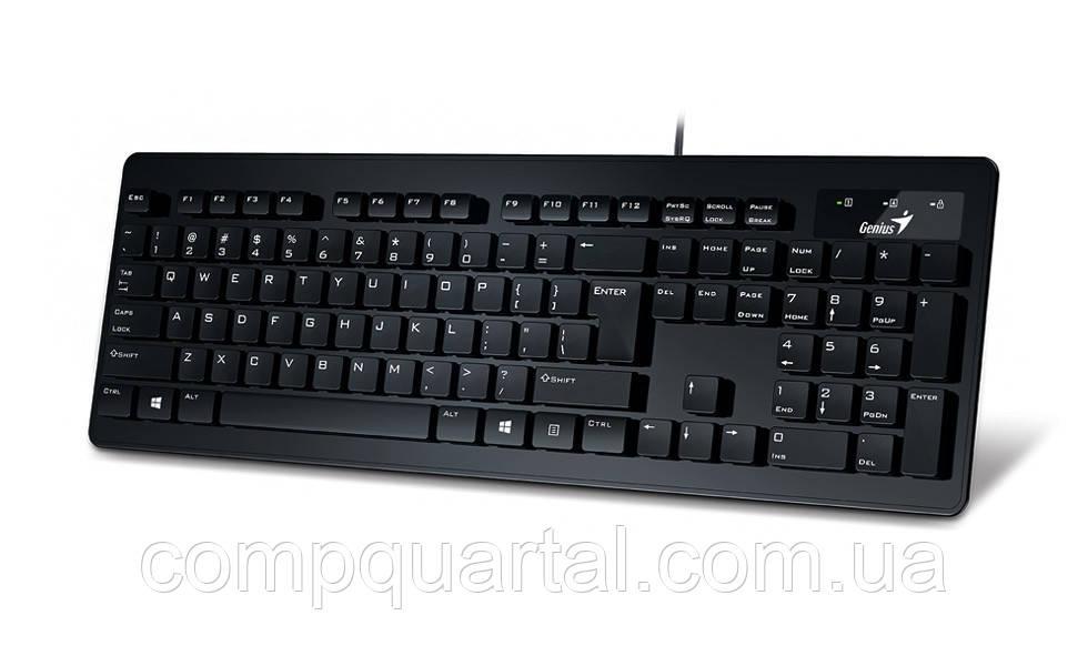 Клавіатура Genius SlimStar 130 Black (31300714106) USB UKR