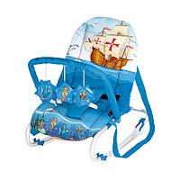 Переносное кресло-качалка TOP RELAX XL для малышей 0-6 мес. весом до 9 кг (детский шезлонг) ТМ Lorelli (Bertoni) 3 цвета
