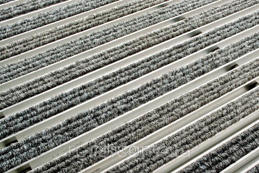 ACO Vario алюминиевая решётка с войлочным покрытием 750х500х20 мм для поддержания чистоты в доме. Светло-серый