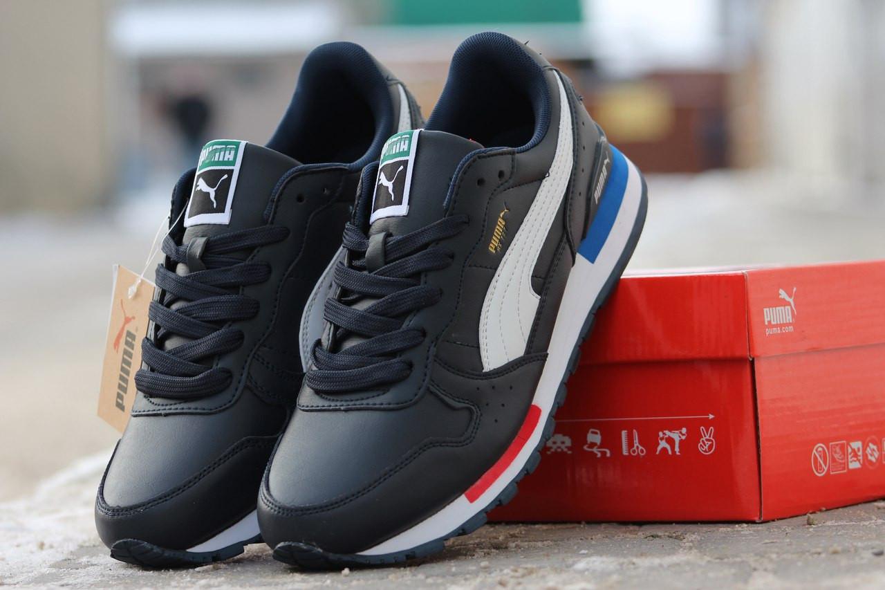 Кроссовки мужские PUMA RX 727 кожаные,темно синие 45р - Интернет-магазин  Дом Обуви 1a39490eadc