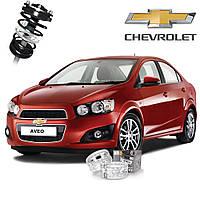 Автобаферы ТТС для Chevrolet Aveo (2 штуки)