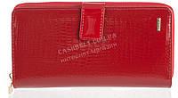 Стильный лаковый оригинальный женский кожаный кошелек барсетка высокого качества H.VERDE art. 2605TV-B62 красн