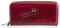 Стильный лаковый женский кожаный кошелек барсетка, две молнии высокого качества H.VERDE art. 2547AR-44 бордо