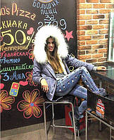 Женская Парка с опушкой из меха Енота Вендетта Можно собрать свой цветовой вариант
