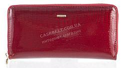 Лаковый женский кожаный кошелек барсетка под кожу рептилии высокого качества H.VERDE art. 2480V-44 бордовый