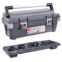 "Ящик для инструмента с металлическими замками 25.5"" 650*275*265мм INTERTOOL BX-6025"