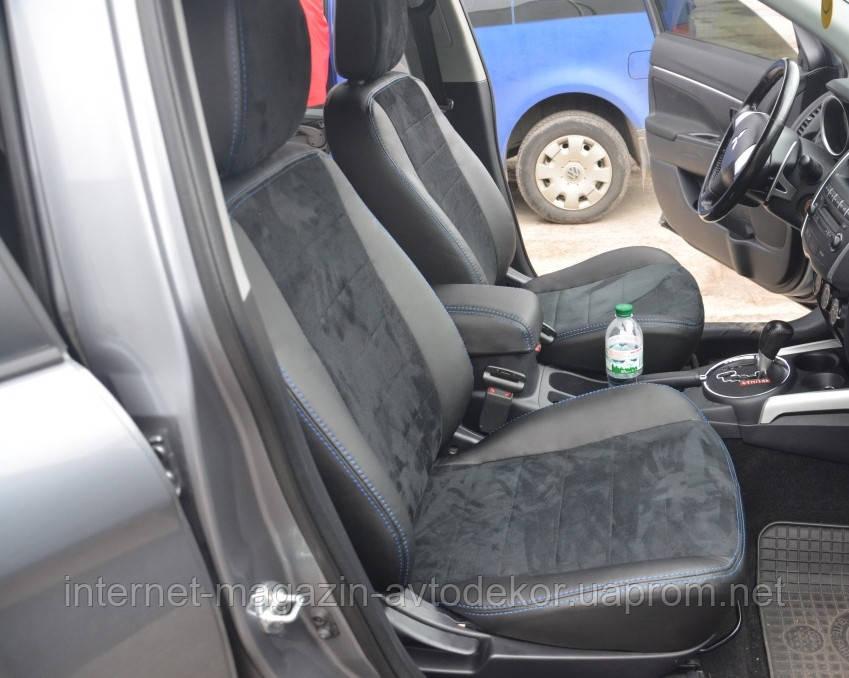 Авточехлы экокожа+алькантара для Hyundai Tucson 2004- г.