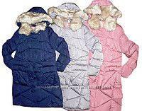 Пальто зимнее для девочки рост 140 -164, GRACE 60432