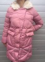 Пуховик розовый зимнее пальто для девочки рост 164, GRACE 60432