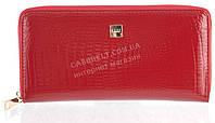 Лаковый женский кожаный кошелек барсетка под кожу рептилии высокого качества H.VERDE art. 2480TS-B62 красный