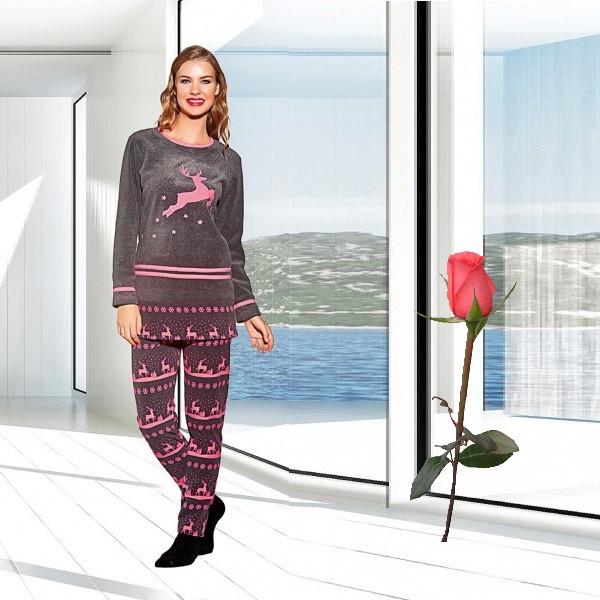 Велюровая женская  зимняя  пижама  Т 15700 - Интернет-магазин  Ledy-line в Харькове
