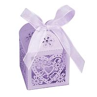 Бонбоньерка - коробочка для конфет сиреневая