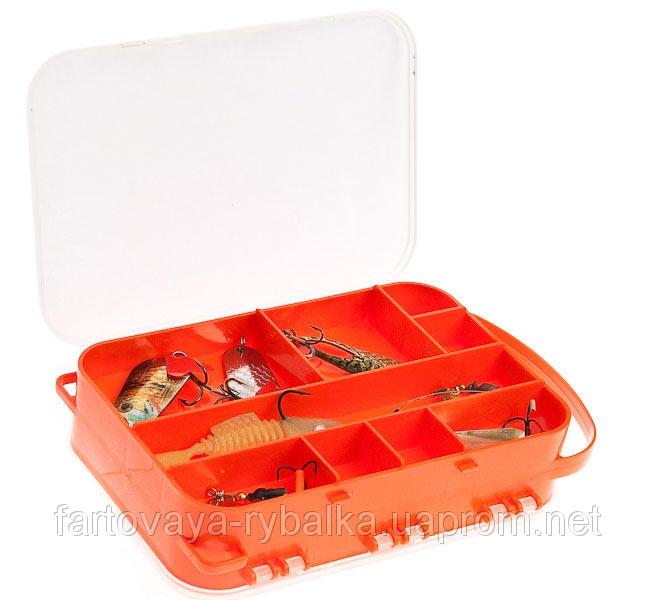 Коробка двухсторонняя 15 ячеек AQUATECH 2515