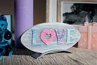 Свеча диск Love 185х12х90мм. 1шт. Цвет графитовый.