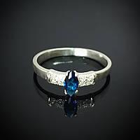 Серебряное кольцо с фианитом, р16