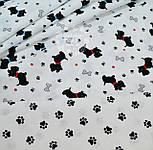 """Ткань хлопковая """"Собачки с красными ошейниками"""" № 549а, фото 6"""