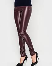 Однотонные женские узкие брюки-лосины (Кожаные sk), фото 3