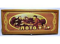 Набор лото в деревянной коробке с деревянными бочонками.