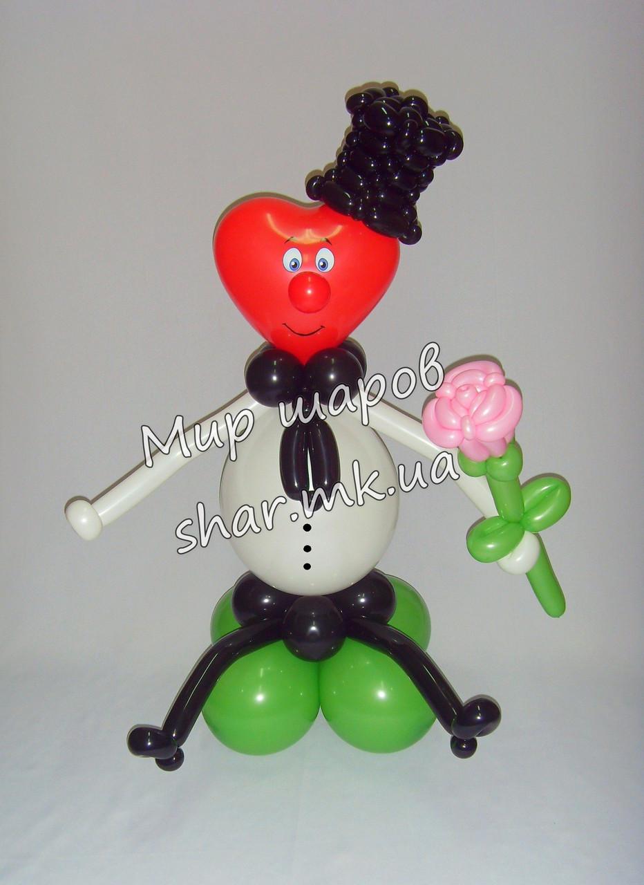 Валентиныч - подарок из шаров на 14 февраля