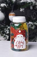 """Сладкая доза с желейками """"З Новим роком та Різдвом"""", 250 мл, фото 1"""