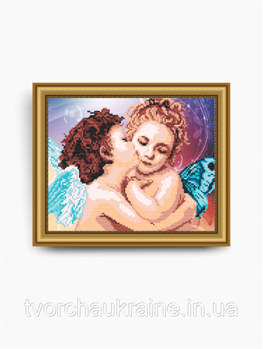Авторская канва для вышивки бисером «Поцелуй Ангелков»