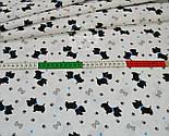 """Ткань бязь """"Собачки с голубыми ошейниками"""" № 550а, фото 3"""