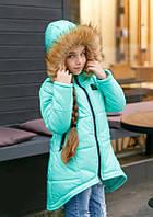 Куртка Детская Фрак Тёплая Капюшон Курточка для Девочки