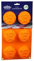 Форма силикон для выпечки маф Роза Peterhof PH-12840