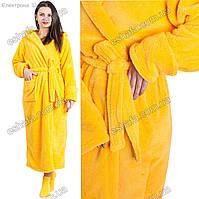 Подростковый длинный махровый халат  размеры 9-12 лет