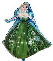 Фольгированный воздушный шарик принцесса Эльза 80 х 54 см.