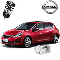 Автобаферы ТТС для Nissan Tiida (2 штуки)