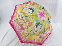 Зонтик для девочек с рюшей на  карбоновой спице № 012 от Paolo