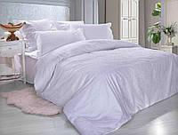 """Комплект 2-спальный с Евро-простынёй Коллекции """"Белый по белому"""". Тернопольский Поплин. Хлопок 100%."""