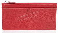 Стильный практичный тонкий яркий женский кошелек из очень мягкой качественной кожи SALFEITE art. 3231 красный
