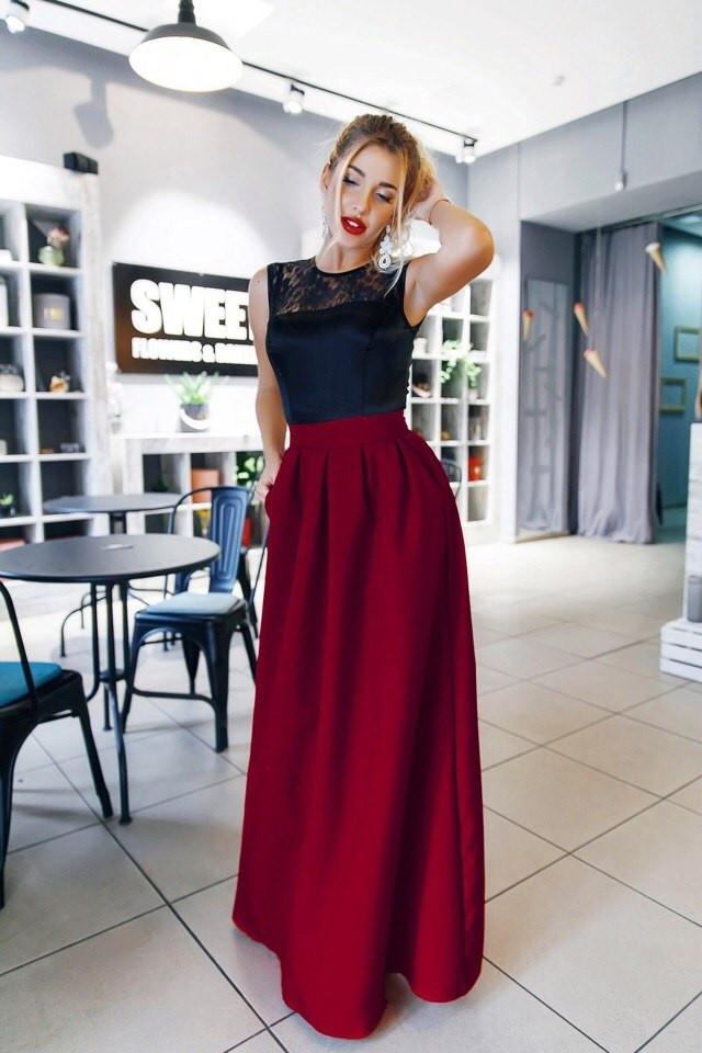 Платье в пол топ и юбка