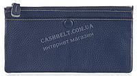 Стильный практичный тонкий яркий женский кошелек из очень мягкой качественной кожи SALFEITE art. 3231 темно си