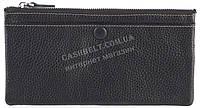 Стильный практичный тонкий яркий женский кошелек из очень мягкой качественной кожи SALFEITE art. 3231 черный