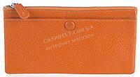 Стильный практичный тонкий яркий женский кошелек из очень мягкой качественной кожи SALFEITE art.3231 оранжевый