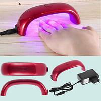 Светодиодная Led лампа для ногтей 9 Вт, со шнуром и штекером, фото 1