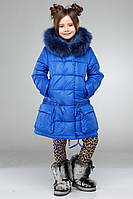 Зимняя курточка пуховик Малика2 на девочку рост 116, 122