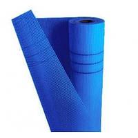 Сетка штукатурная фасадная 5 х 5 мм (1 м х 50 м) (145 г/кв. м) / синяя Экстра