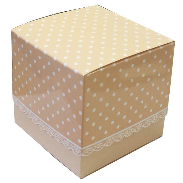 Упаковка для чашек картон с принтом беж