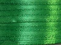 Тесьма атласная 3 мм зеленый 99 ярд.