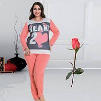 Женская пижама Большой размер   Трикотаж  Т 109